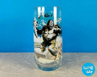 Vintage King Kong 1976 Coca Cola Collectible Character Glass - King Kong Glass - Replacement Glass