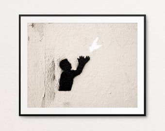 Paris Graffiti Photo - Paris Photography, Paris Print, Paris Street Art, Home Decor, Paris Decor, Hope,  Paris Wall Art, Paris Bedroom Decor