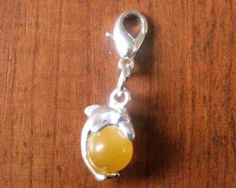 charm's charm hook Dolphin CatEye glass bead