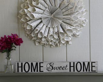 Home Sweet Home Sign, Housewarming Gift,Rustic Home Sign,Home Decor Sign,Wedding Gift, Wall Art,Home Sweet Home,First Home Gift,Realtor Gift