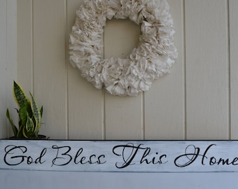God Bless This Home Sign, God Bless This Home, Home Sign, Bless Our Home Sign, Entryway Decor, Entryway Signs, Housewarming Gift, Welcome