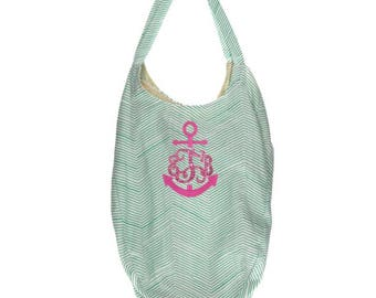 Custom Swarovski Crystal Monogram Hold Everything Bag - Personalized Bag - Travel Tote Bag - Carry On - Shoulder Bag - Gift for her