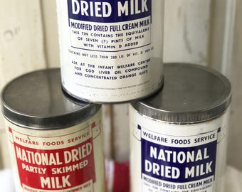 Original National Dried Milk canisters