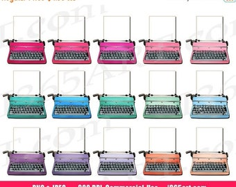 50% OFF Typewriters Clipart, Vintage Typewriters Clip art, Retro Typewriters, Digital, Planner Stickers, Scrapbooking, PNG, Commercial