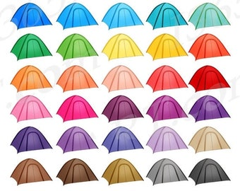 50 OFF Camping Tent Clipart Clip Art Tents Outdoors Hiking Trip Summer Camp Planner Stickers Digital PNG Commercial