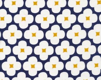 Floret in Dark Navy - Corduroy Cotton Fabric - Spring Quartet- Jessica Jones for Cloud9