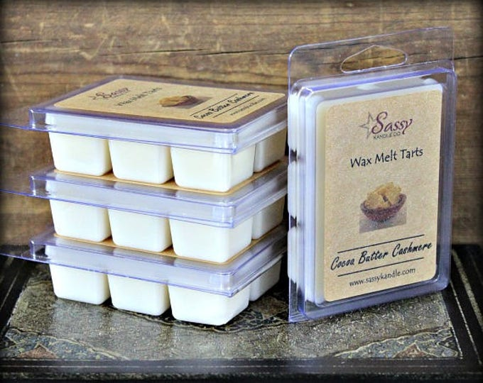 COCOA BUTTER & CASHMERE | Wax Melt Tart | Sassy Kandle Co.