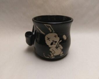 "WAKE and BAKE Pipe MUG - Jthm Inspired ""Bunny"" - Handmade Ceramic #839"