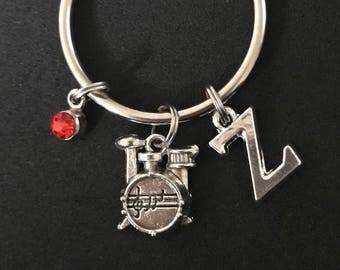 Personalized Drum Keychain Personalized Drum Gift