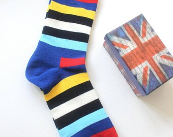 Socks, colorful socks, trendy socks, striped socks ,multi-col.