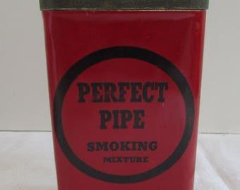 Antique Perfect Pipe Smoking Mixture Tobacco Tin