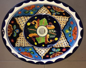 FREE SHIPPING!  Colorful Talavera Sink