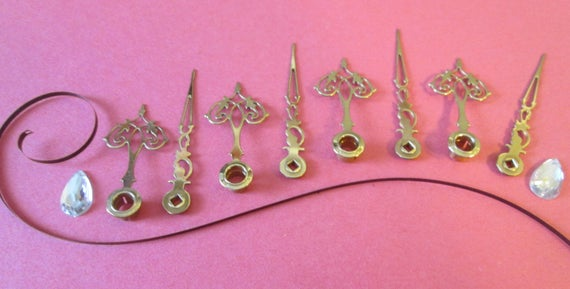 4 Pairs of Small Vintage Fancy Solid Brass Clock Hands for your Clock Projects, Jewelry Making, Steampunk