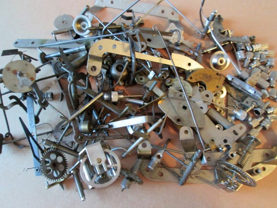 Super Lot of Antique, Vintage & New Clock Parts and Hardware for your Clock Projects, Steampunk Art, Jewlery Making, Altered Art + Etc...