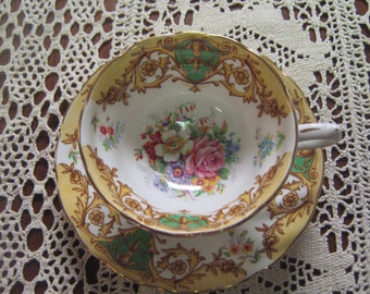 Tasse et soucoupe Bone China Grovesnor Balmoral Made in England