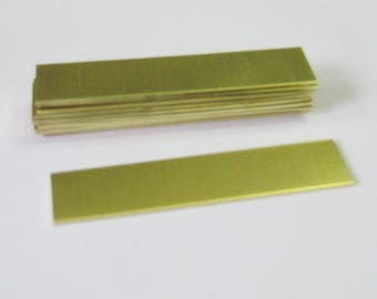 5/8 x 3 - Brass -  18 G - Hand stamping metal Blanks  - brass strips - Heavy duty brass blanks - hand stamping blanks - brass tags