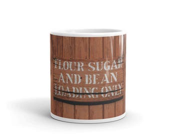 Mug - Red Silo Original Art - Flour Sugar & Bean