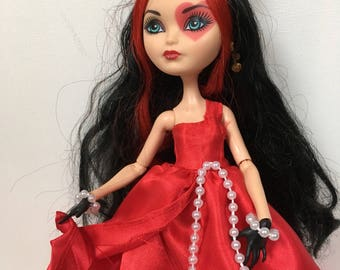 """Ever After Dolls """"Pearls and Red"""" Dress for Lizzie, Apple White"""
