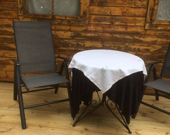 Antique Hand Embroidered Table Cloth