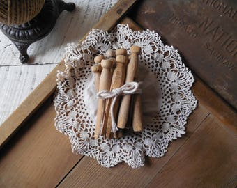 Last One! Old Weathered Wood Clothespins – Laundry Room Decor-Jar & Bowl Filler- Clothesline Laundry Pegs Collection /0662