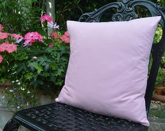"Handmade 16""x16"" Cotton Home Decor Cushion Accent Pillow Cover in Plain Medium Pink"