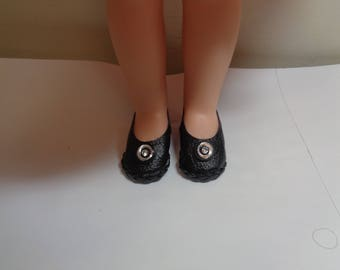 Black Shoes for 14 Inch Dolls- Fits Wellie Wishers and Hearts for Hearts and Les Cheries Dolls