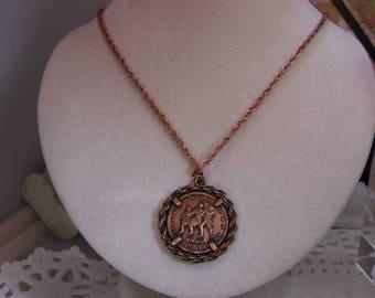Bicentennial Necklace Spirit of 76 Pendant Necklace