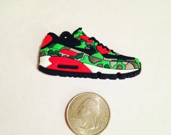 Moving Clearance Sale Camouflage Tennis Shoe Sneaker Rubber Charm Pendant