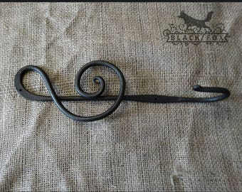 Hand Forged Treble Clef Hook