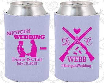 Shotgun Wedding, Custom Wedding Favors, Country Wedding, Southern Wedding, Redneck Wedding, Wedding Beer Coolie (562)