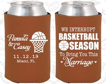 Burnt Orange Wedding, Burnt Orange Can Coolers, Burnt Orange Wedding Favors, Burnt Orange Wedding Gift, Burnt Orange Party Favors (310)