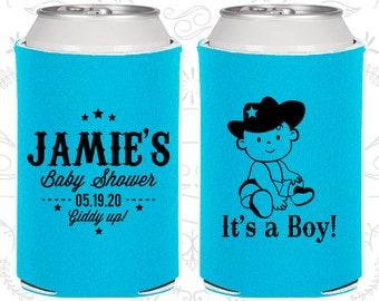 It's a Boy Baby Shower, Printed Baby Shower Gift, Cowboy Baby Shower, Diaper Party Ideas (90078)