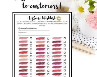 The Original LipSense Wishlist, LipSense Marketing, Wishlist, LipSense, Marketing Kit