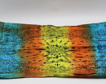 Tie Dye Bandana, Trippy Southwest Sunrise handkerchief, Hippie Fashion