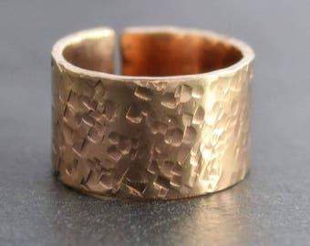 Textured Safari Wide Band Ring