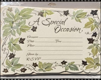 A SPECIAL OCCASION Carlton CARDS 40 Invitations & 40 Envelopes  *Vintage Design*