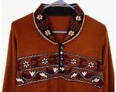 Vintage Tribal Dress, 60s Dress, 70s Dress, Embroidered Dress, Boho Dress, Hippy Dress, Hippie Dress, Woodstock, Ethnic Dress, Native Dress