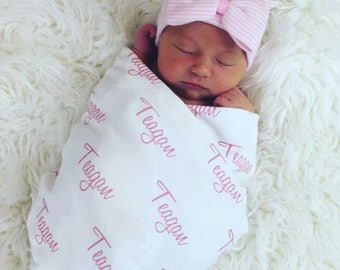 Personalized Swaddle Blanket.  100% organic cotton Baby Blanket.  Personalized Name Blanket.  Newborn Blanket. Baby name blanket.