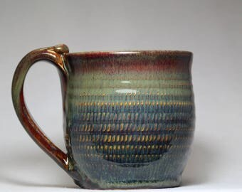 original ceramic pottery mug, 16oz coffee mug