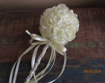 yellow fariy wand flower girl basket party wand