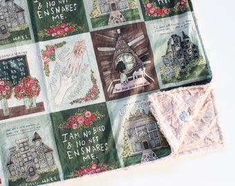 Jane Eyre Book Blanket // Literary Gift
