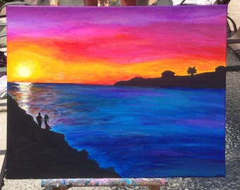 A Lover's Sunset Original Painting