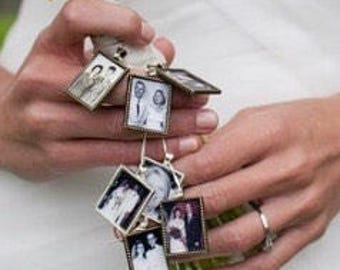 Memorial Photo Charm for Wedding Bouquet charm kit -  for family photo (includes everything you need ) Wedding Keepsake for Bride