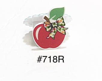 2/3/5 pc Apple with Bow Planar Resin Flat back