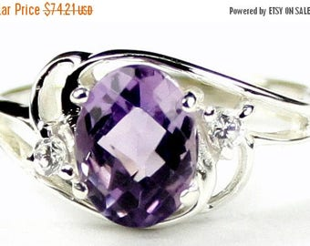 On Sale, 20% Off, Amethyst, 925 Sterling Silver Ring, SR176