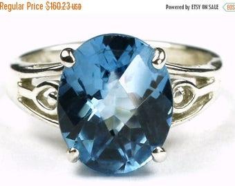 On Sale, 30% Off, Swiss Blue Topaz, Sterling Silver Ring, SR139