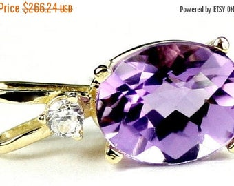 On Sale, 30% Off, Amethyst, 14KY Gold Pendant, P020