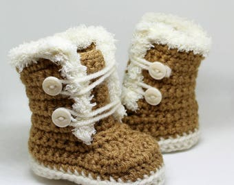 Baby Girl Boots - Faux Fur Boots - Baby Girl Gift - Shower Gift - Fashion Boots for Baby Girls - Winter Baby Boots - Warm Baby Boots