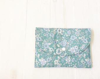 Floral Pencil Pouch, Project Bag, Simple Wallet, Cash Wallet