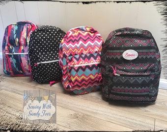 Girl's Backpack,Personalized Backpack, Child Backpack,Girls backpack, School Bag,Back to school, ,Girls Backpack, Toddler Backpack